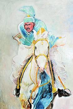White stallion by Khalid Saeed