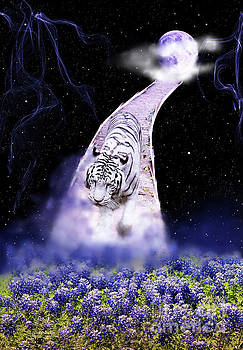 White Tiger Fantasy by Inspirational Photo Creations Audrey Woods