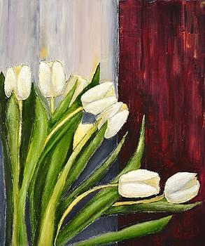 White Tulips by Dimitra Papageorgiou