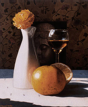 White Vase and Grapefruits by Daniel Montoya
