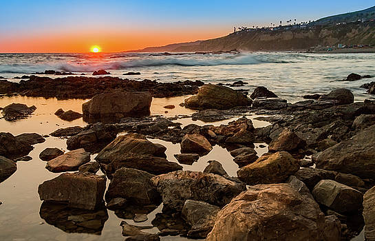 White's Point Sunset 2 by Ed Clark