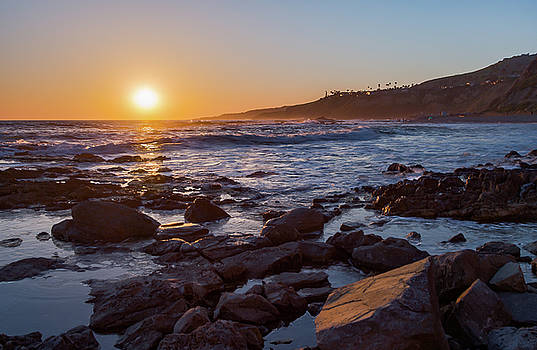 White's Point Sunset by Ed Clark