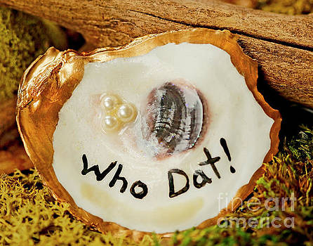 Who Dat Oyster Shell  by Luana K Perez
