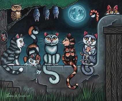 Whos Your Daddy Cat Painting by Victoria De Almeida