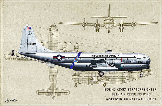 WI ANG KC-97 - Profile Art by Tommy Anderson