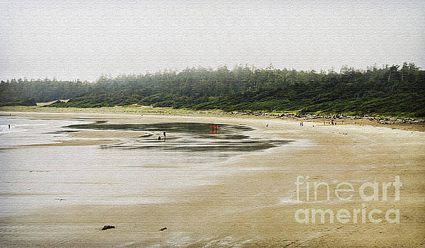Wickannish Beach on a rainy summer afternoon by Maria Janicki