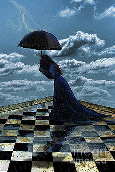 Widow In The Rain by Eleanor Caputo