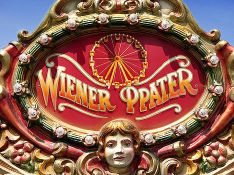Wiener Prater amusement park sign in Vienna by Mirko Dabic