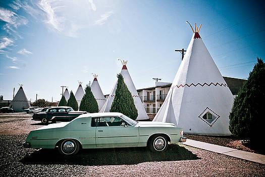 Wigwam Motel Classic Car #3 by Robert J Caputo