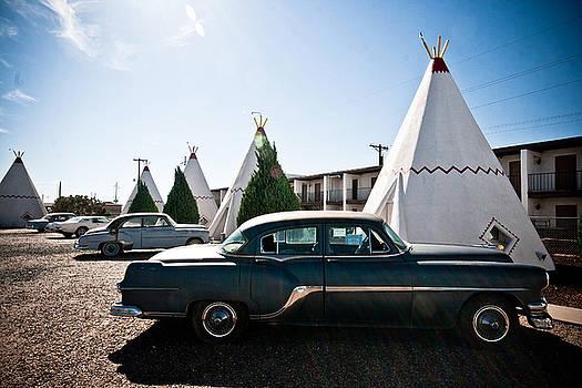 Wigwam Motel Classic Car #5 by Robert J Caputo
