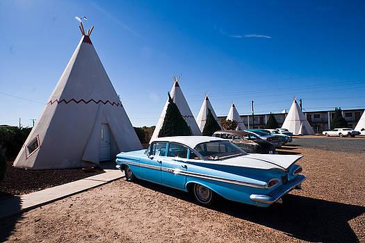 Wigwam Motel Classic Car #6 by Robert J Caputo
