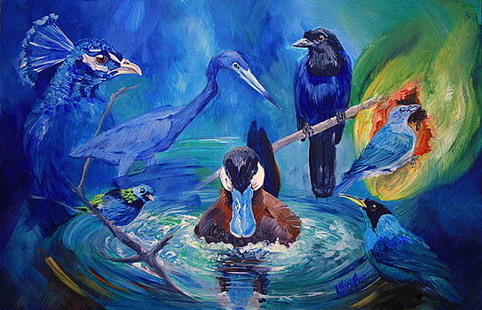 Wild Birds that Fly with their Blue-tiful Wings, these are a Few of my Favorite Things by Kitty Harvill