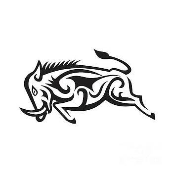 Wild Boar Charging Tribal Art by Aloysius Patrimonio