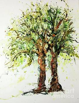 Wild Cigar Trees watercolor by CheyAnne Sexton