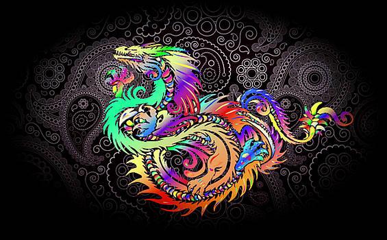Wild Dragon Fantasy by Clive Littin