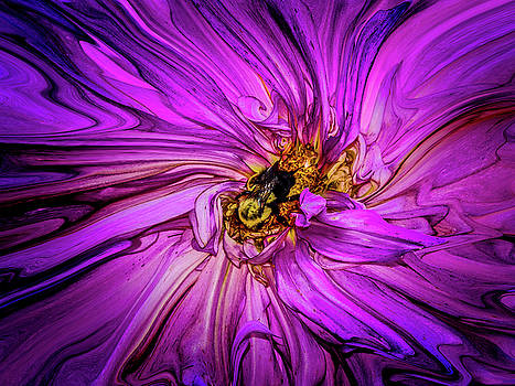 Wild Flower and Bee by Joseph Pellicone