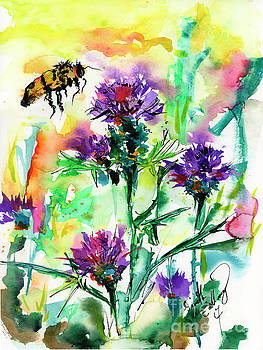 Ginette Callaway - Wild Flowers Thistles and Bees