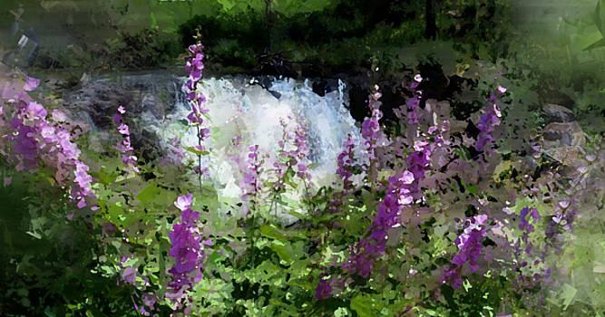 Wild Hollyhocks Fall Creek Idaho by Sabrina Farmer