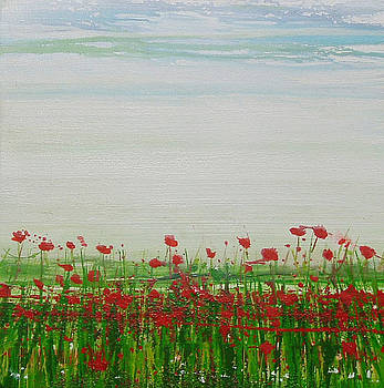 Wild poppies and  grasses no 2 by Mike   Bell