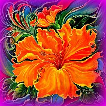 Wild Purple Hibiscus by Yolanda Rodriguez