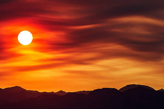 Wildfire Sunset by James Marvin Phelps