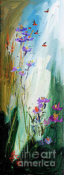 Ginette Callaway - Wildflowers and Bees Oil Painting