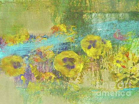 Sharon Williams Eng - Wildflowers by the Stream