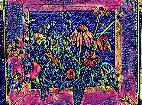 Wildflowers in Fuschia/Blue by Patricia Rex