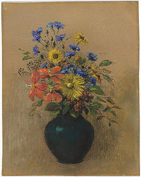 Wildflowers by Odilon Redon