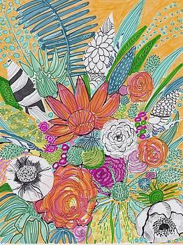 Wildflowers Orange by Rosalina Bojadschijew