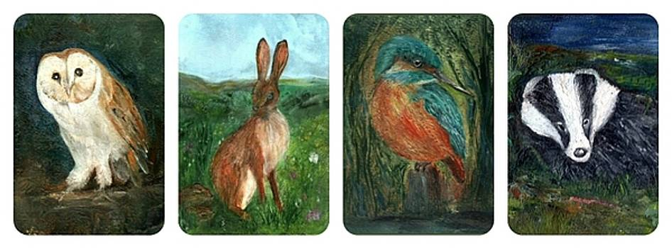 wildlife Quartet by Carol Rowland