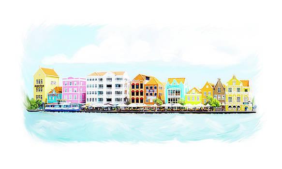 Willemstad Curacao Skyline by Ramona Murdock