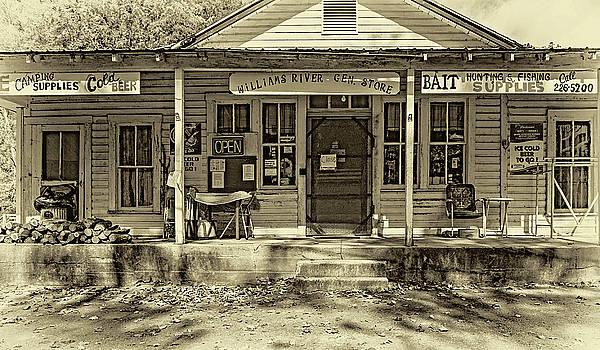 Steve Harrington - Williams River General Store - West Virginia - Sepia