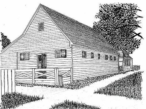Williamsburg Virginia Restoration District Barn by Dawn Boyer