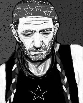 Willie - black and white by Rollin Jewett