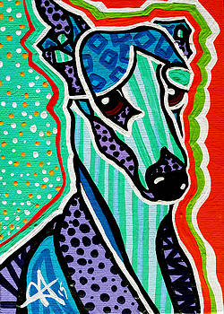 Willy Hound Whippet Greyhound Pharaoh Ibizan by Jackie Carpenter