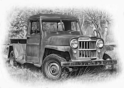 Steve Harrington - Willys Jeep Pickup Truck 2 bw - Paint