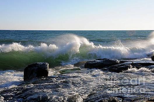 Wind blown Waves by Sandra Updyke