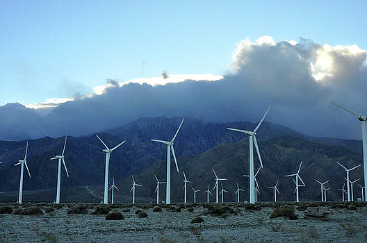 Wind Power near Palm Springs, CA by Diane Lent