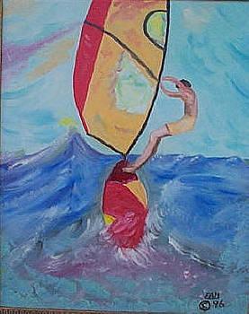 Wind Surfer by Elizabeth A Gawronski