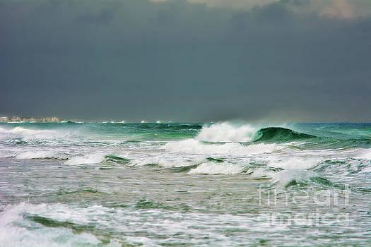 Wind Swept Waves 2 by Kelly Nowak