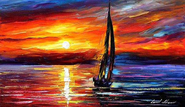 Wind Toching The Soul - PALETTE KNIFE Oil Painting On Canvas By Leonid Afremov by Leonid Afremov