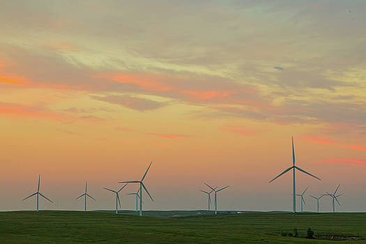 Wind Turbine Sunset by James BO Insogna