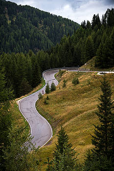 Winding Mountain Road by Wim Slootweg