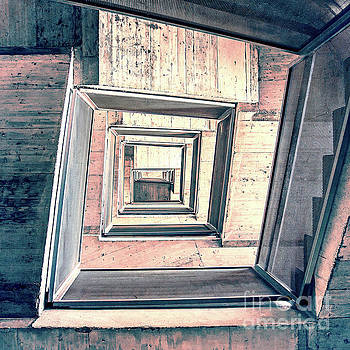 Winding Stairwell Abstract by Phil Perkins