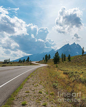 Winding Through the Tetons by Sharon Seaward