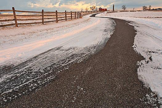 Winding Winter Road by Nicolas Raymond