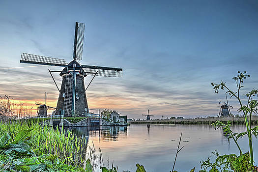 Windmill at Kinderdijk by Frans Blok