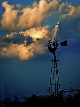 Windmill At Sunset by Garett Gabriel