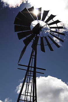 Windmill Silhouette  by Kandie  Kingery